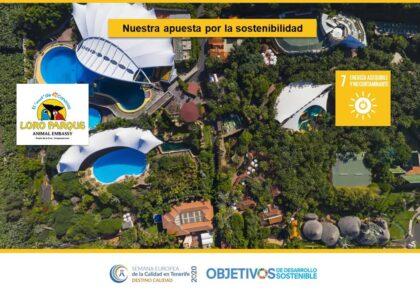 Nuestra apuesta por la sostenibilidad. ODS 7, 12, 13, 14 y 15. Grupo Loro Parque