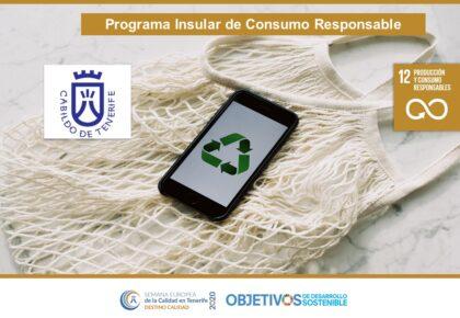 Programa Insular de Consumo Responsable. ODS 3, 12. Cabildo de Tenerife