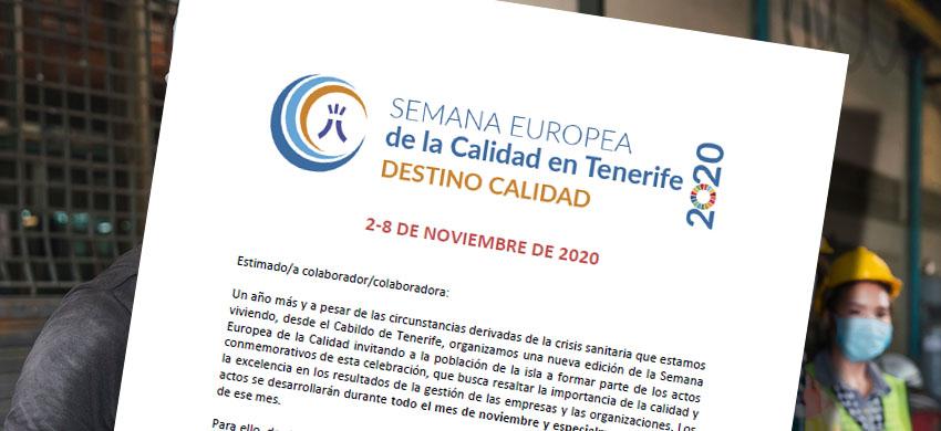 La Directora Insular de Desarrollo Socioeconómico, Ermitas Moreira, publica una carta en la que invita a participar en la Semana de la Calidad en Tenerife 2020