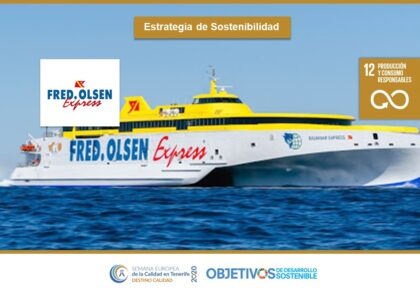 Estrategia de Sostenibilidad. ODS 3, 7, 11, 12. Fred Olsen Express