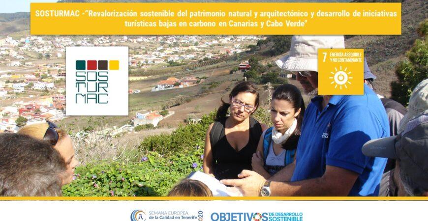"""SOSTURMAC -""""Revalorización sostenible del patrimonio natural y arquitectónico y desarrollo de iniciativas turísticas bajas en carbono en Canarias y Cabo Verde». ODS 7. AIET"""